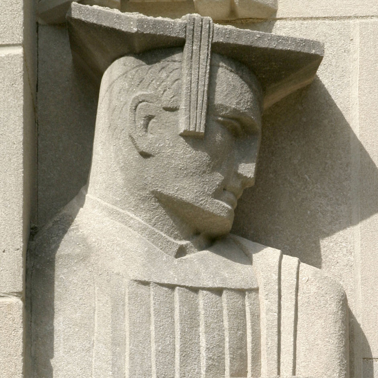 Limestone Sculpture - IU Law School